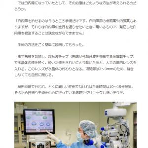 院長藤本が介護ポストセブンの記事にて白内障の解説をさせていただきました。
